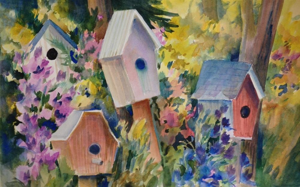 """Home Sweet Home"" original fine art by Libby Anderson"