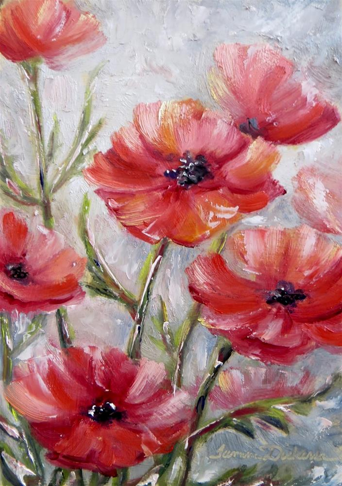 """Poetic Poppies"" original fine art by Tammie Dickerson"