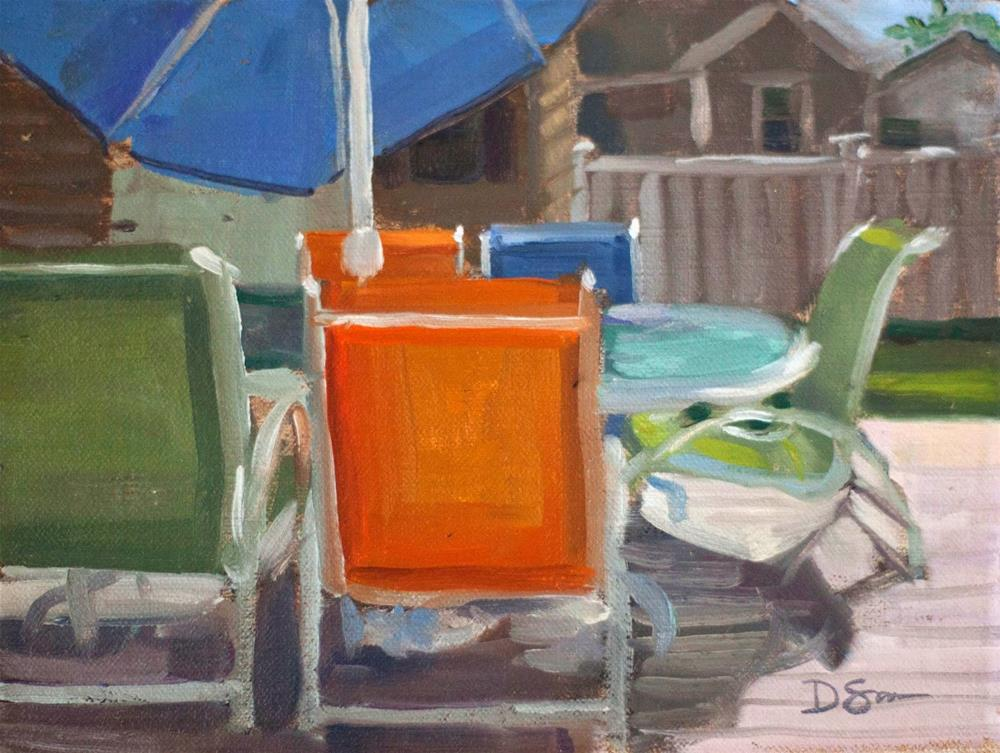 """Under the Umbrella"" original fine art by Deborah Savo"