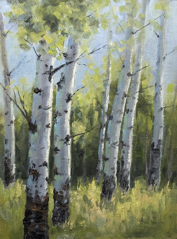 """""""Late Summer in the Aspens"""" original fine art by Bonnie Bowne"""
