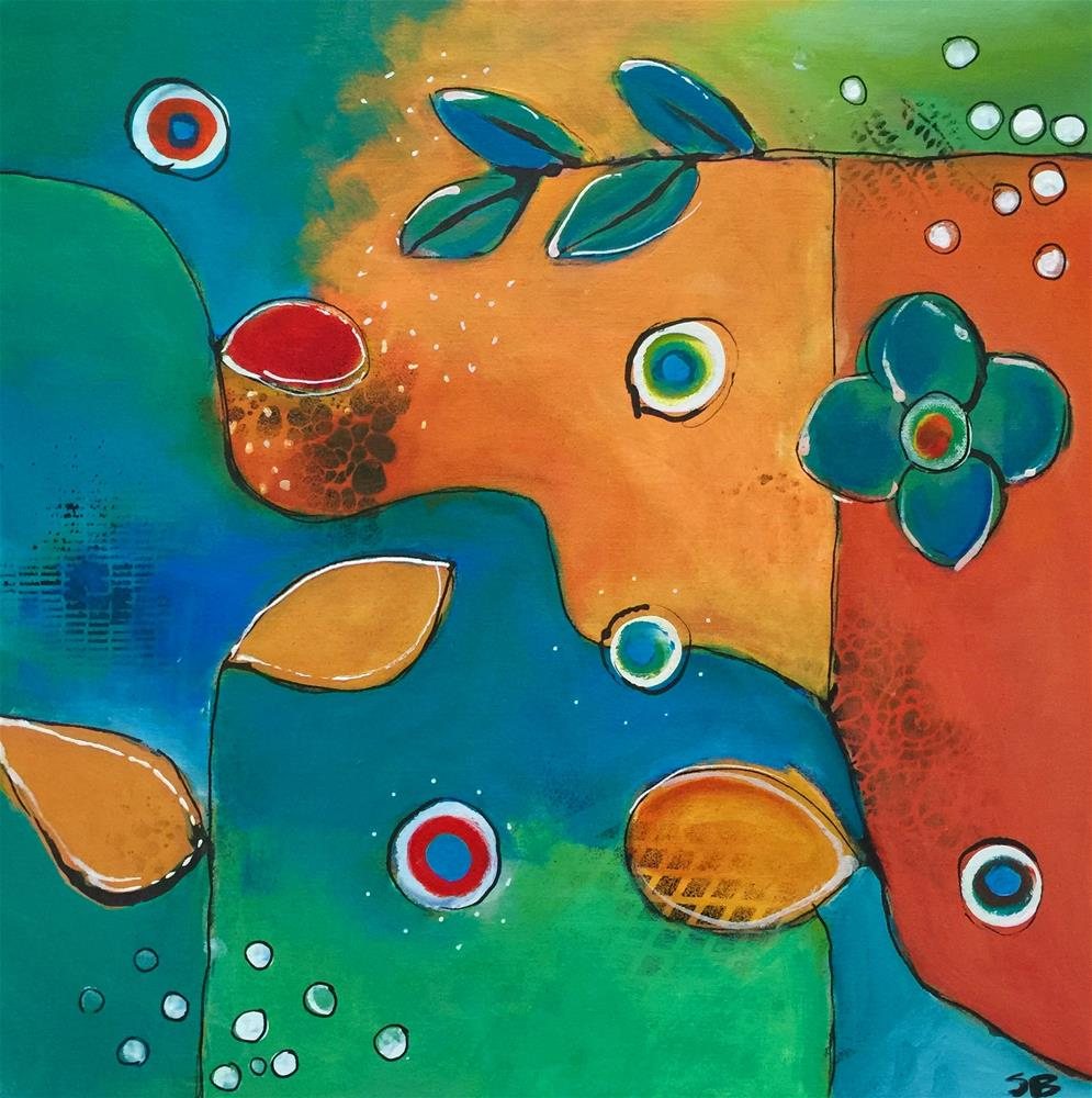 """Adventures in Teal"" original fine art by Susan Bertocci"
