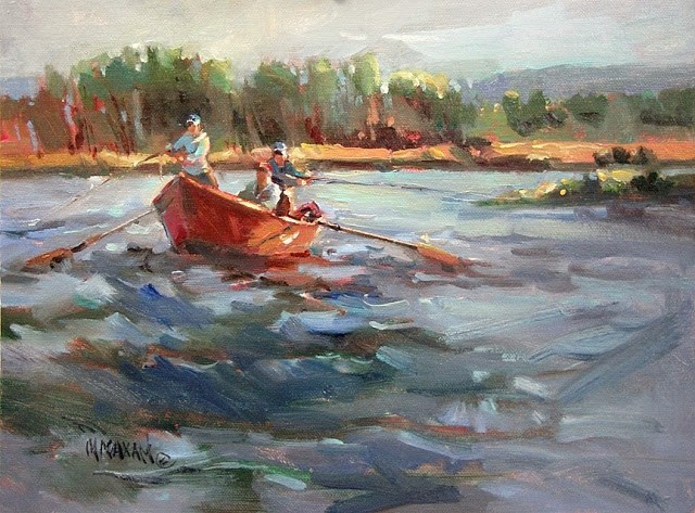 """""""First Day Out"""" original fine art by Mary Maxam"""