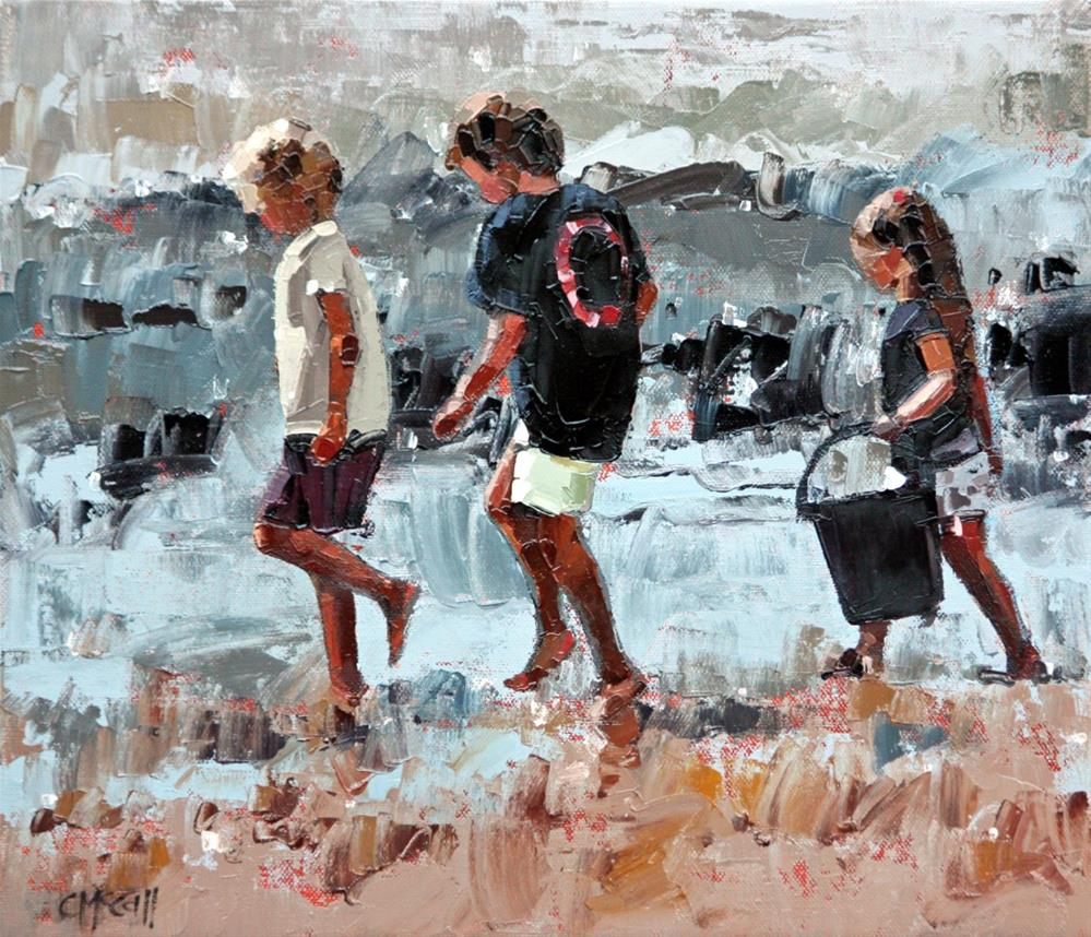 """""""Collecting Pippies III"""" original fine art by Claire McCall"""