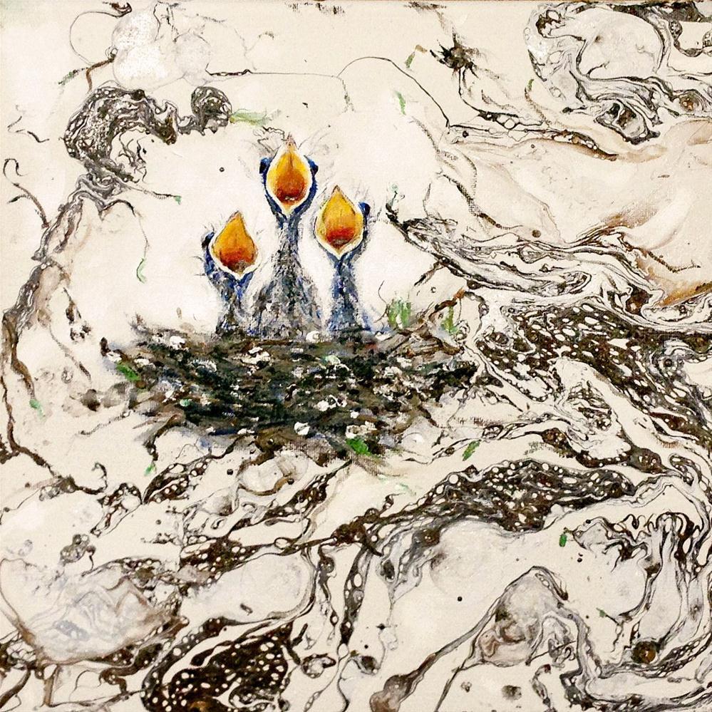 """""""BEAKS"""" original fine art by Sunny Avocado"""