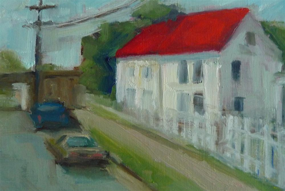 """White House"" original fine art by Carol Josefiak"