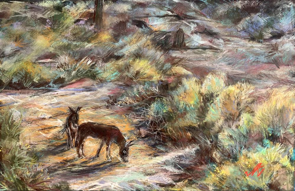"""Wild Burros of Maricopa County"" original fine art by Jean Krueger"