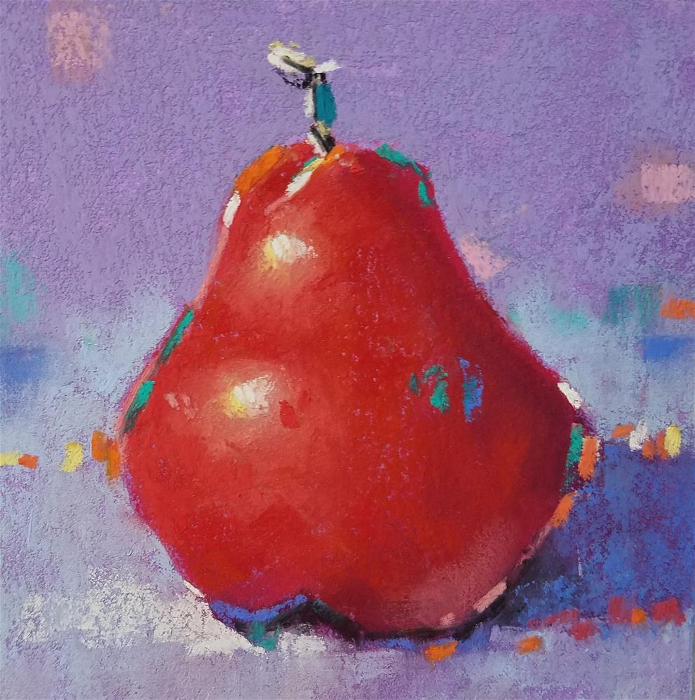 """""""Red Shorty Number 21 with glass"""" original fine art by Cindy Haase"""