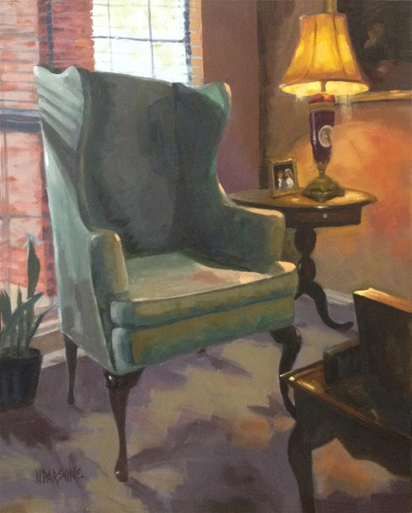 """""""SOLD - Call of the Light"""" original fine art by Nancy Parsons"""