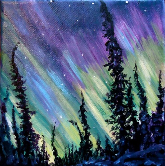 """Northern LIghts"" original fine art by Jackie Irvine"