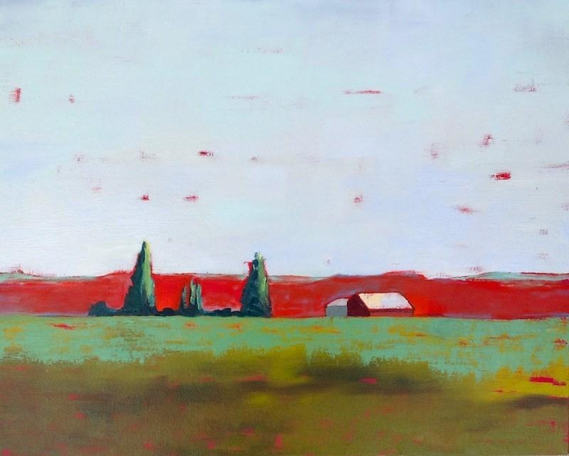"""Red Country Hills"" original fine art by Janet Bludau"