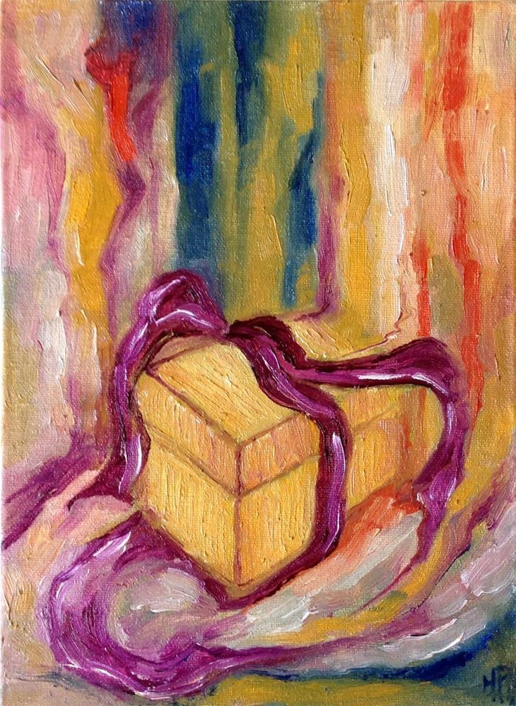 """The gift"" original fine art by Monica Pinotti"
