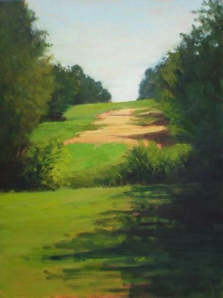"""Veterans Park, Near the Bridge"" original fine art by Weston Hobdy"