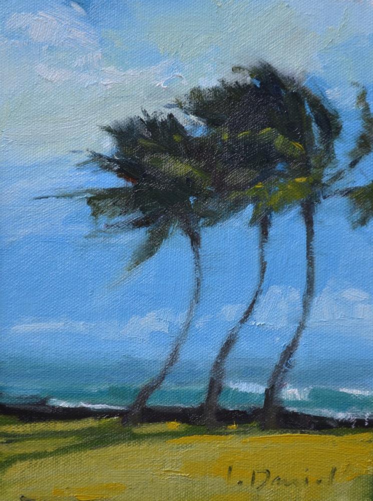 """""""Bending with the Wind"""" original fine art by Laurel Daniel"""