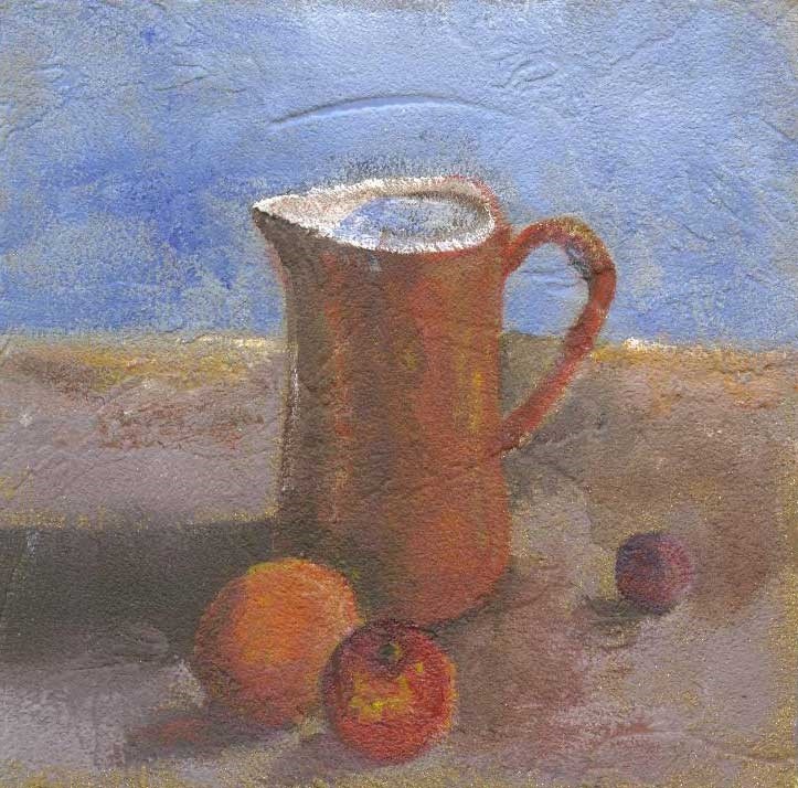"""Honey and Fruit"" original fine art by Kara Butler English"