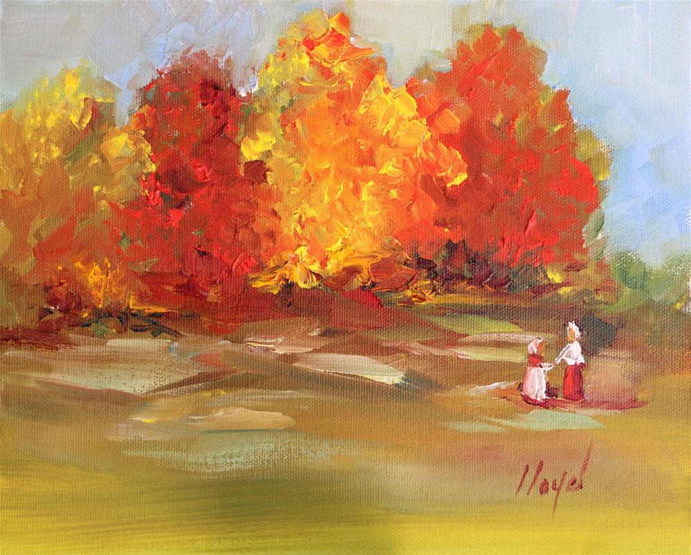 """A Walk in Autumn"" original fine art by Diane Lloyd"