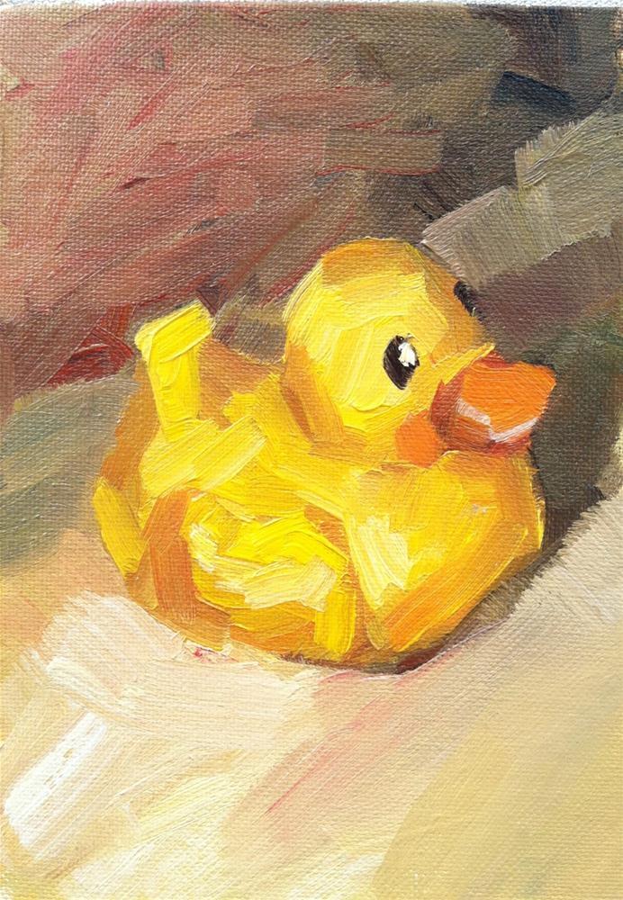 """Little Ducky"" original fine art by Michael Williamson"
