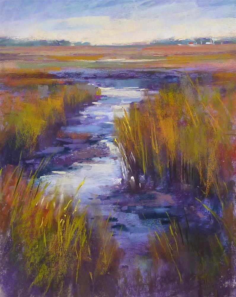 """""""Simplifying a Marsh...Painting Tip"""" original fine art by Karen Margulis"""