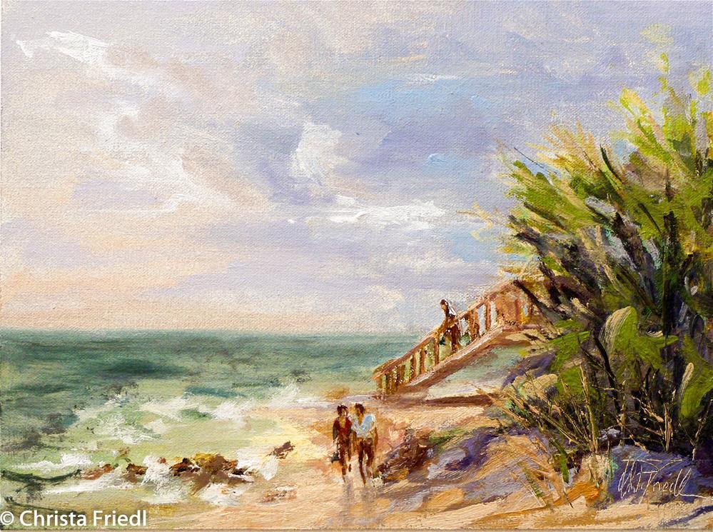 """""""Caspersen Beach, Florida"""" original fine art by Christa Friedl"""