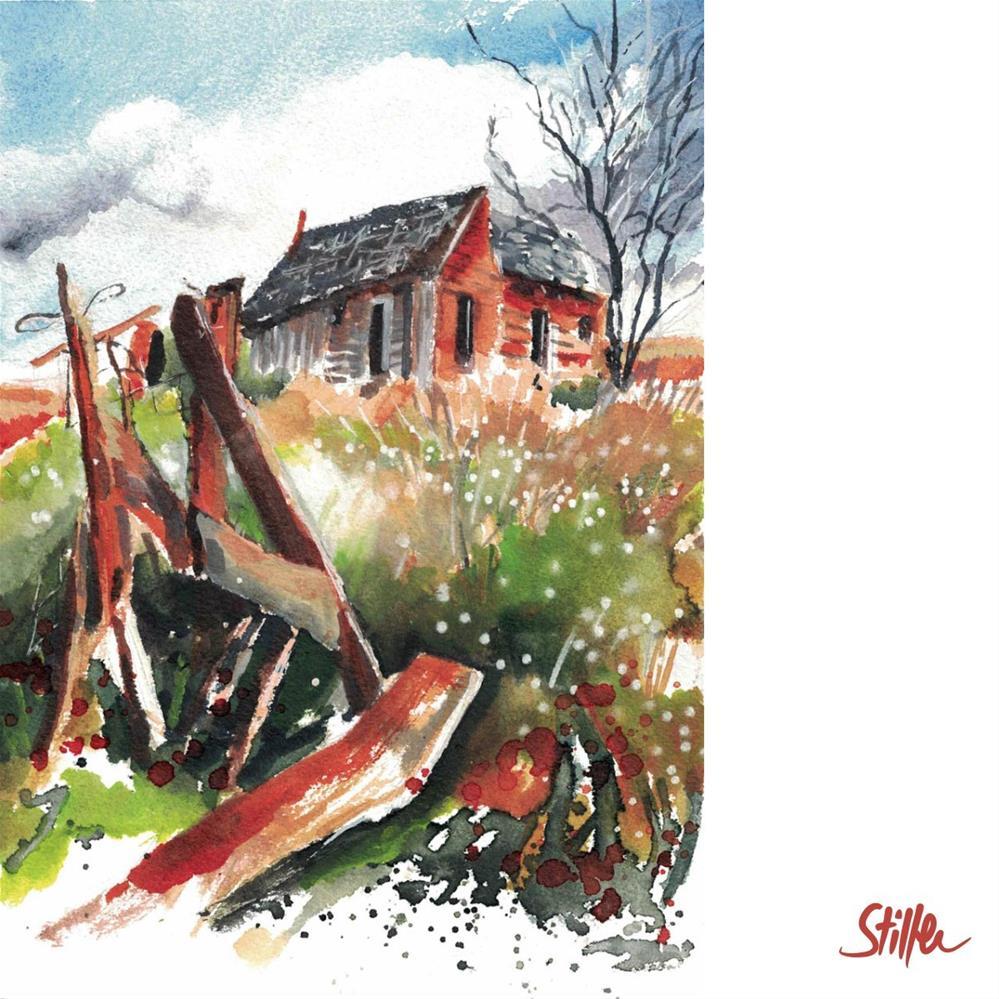 """3228 Midwest Farm"" original fine art by Dietmar Stiller"