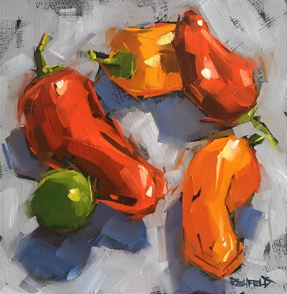 """""""Pepper Tango with Lime"""" original fine art by Cathleen Rehfeld"""