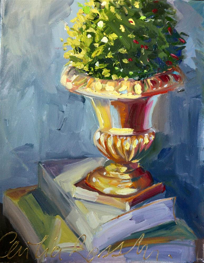 """TOPIARY"" original fine art by Cecilia Rosslee"