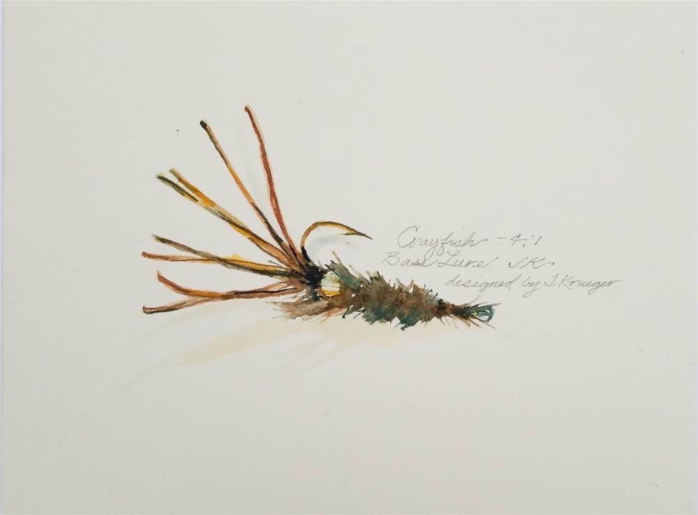 """Crayfish"" original fine art by Jean Krueger"