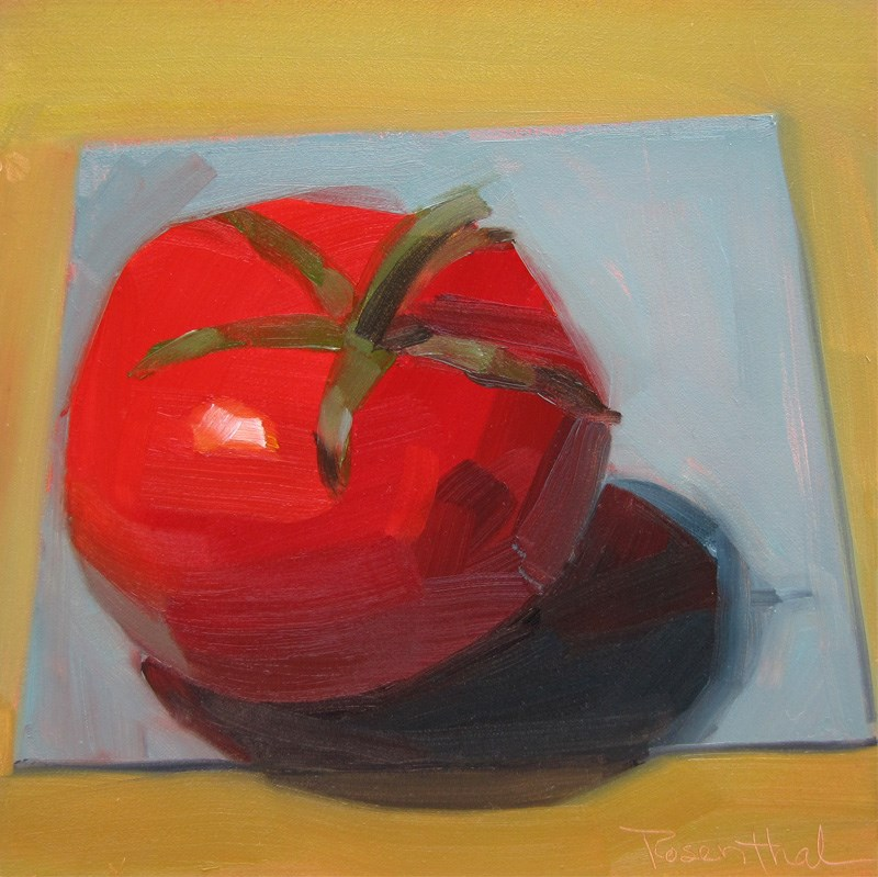 """Tomato on the Vine"" original fine art by Robin Rosenthal"