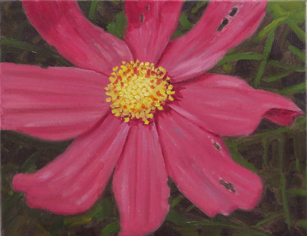 """Red Cosmo"" original fine art by Richard Kiehn"