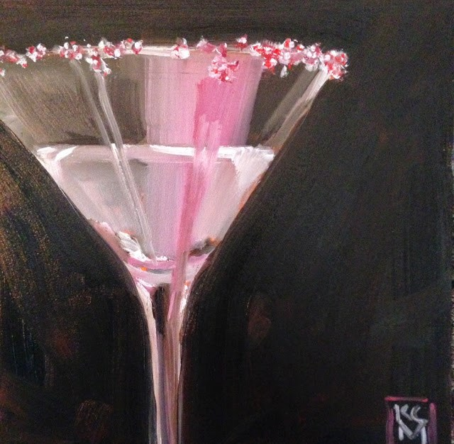 """White Cosmo, 6x6 Inch Free Painting by Kelley MacDonald"" original fine art by Kelley MacDonald"