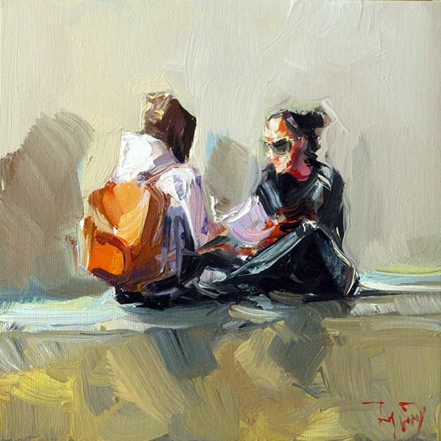 """""""Unterhaltung"""" original fine art by Jurij Frey"""