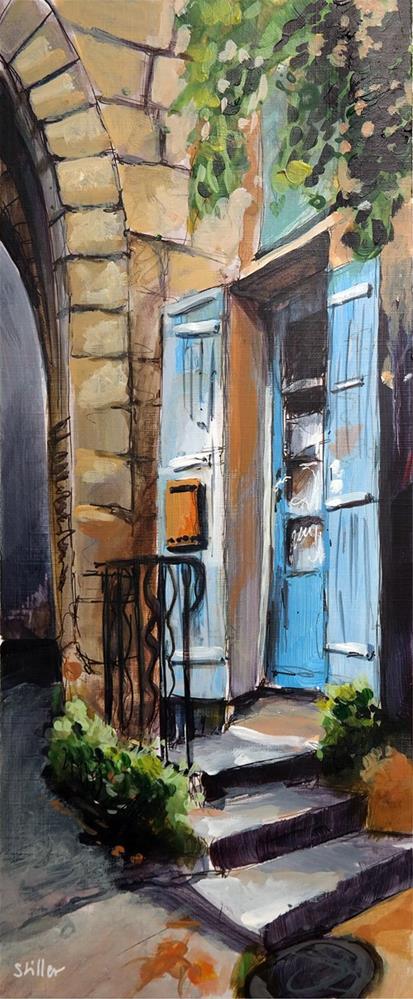 """""""2986 The Blue Door"""" original fine art by Dietmar Stiller"""