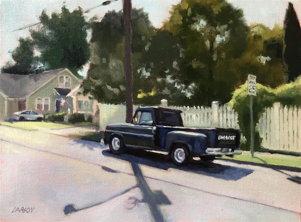 """Pickets and Pickup"" original fine art by Eric Larson"