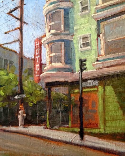 """""""Hayes Valley in San Francisco"""" original fine art by Deborah Newman"""
