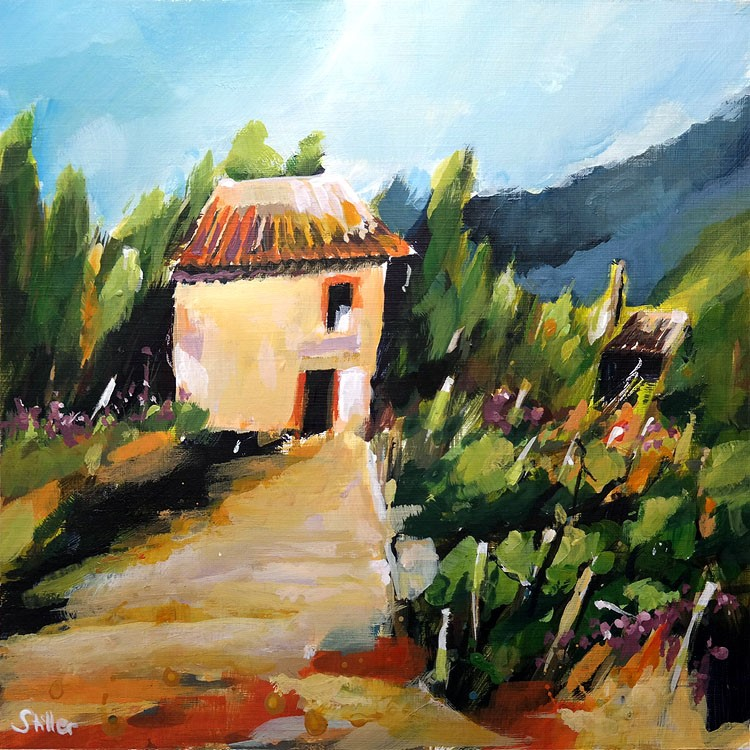 """3343 Landscape with Maison Reloaded"" original fine art by Dietmar Stiller"