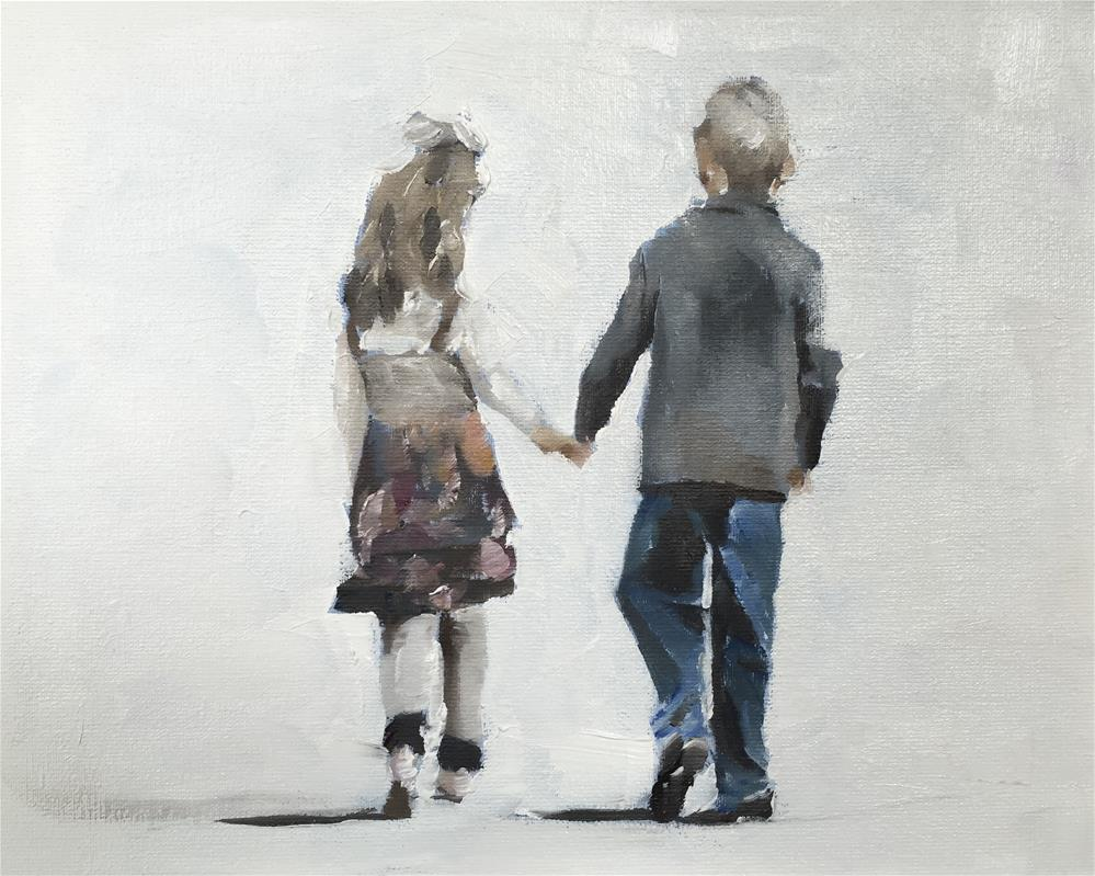 """Young Love"" original fine art by James Coates"