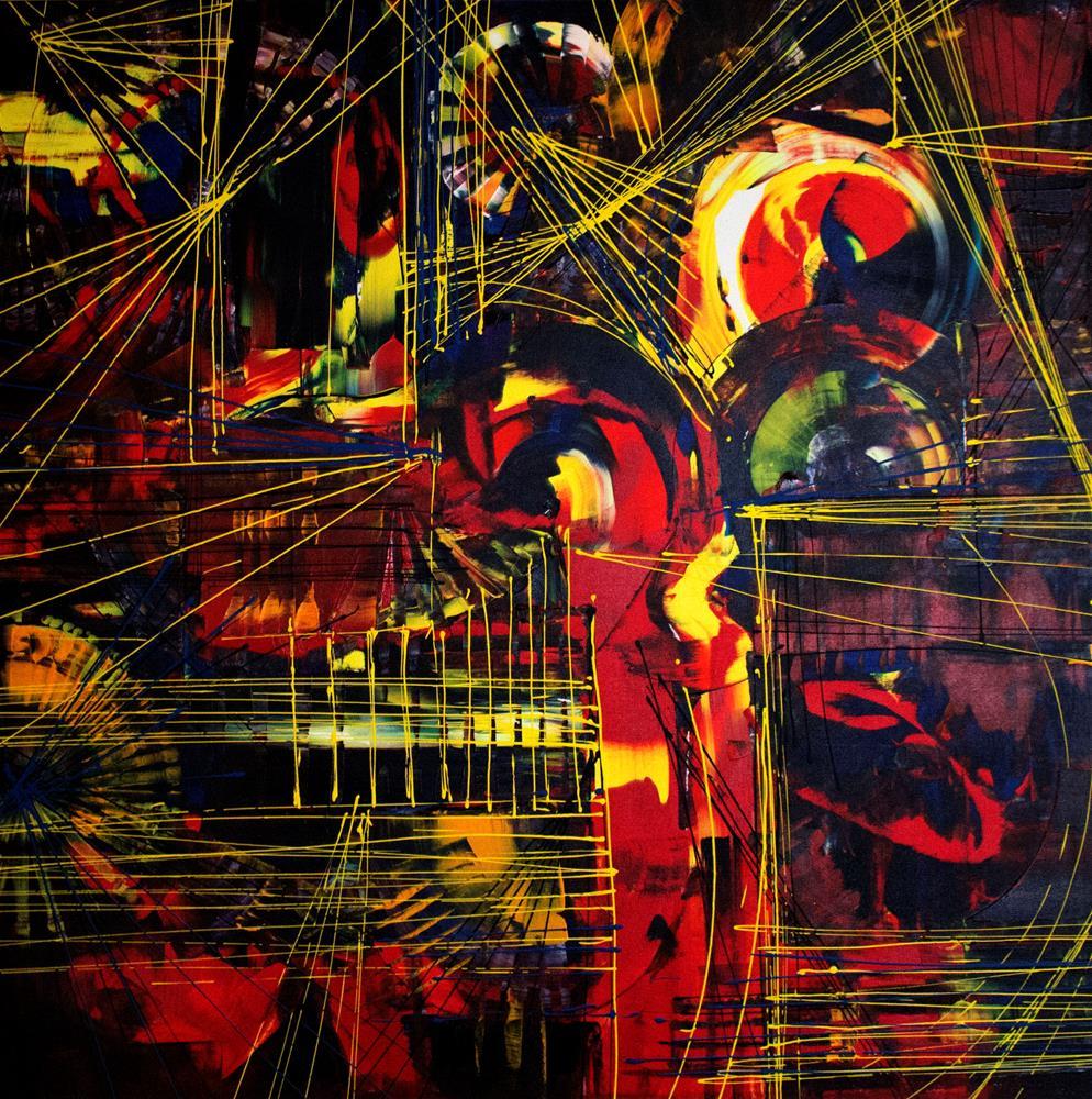 """Color Dance"" original fine art by Khrystyna Kozyuk"
