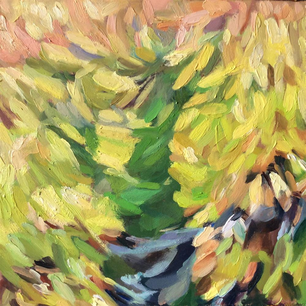 """Tree Shadow"" original fine art by Paula Howson-Green"