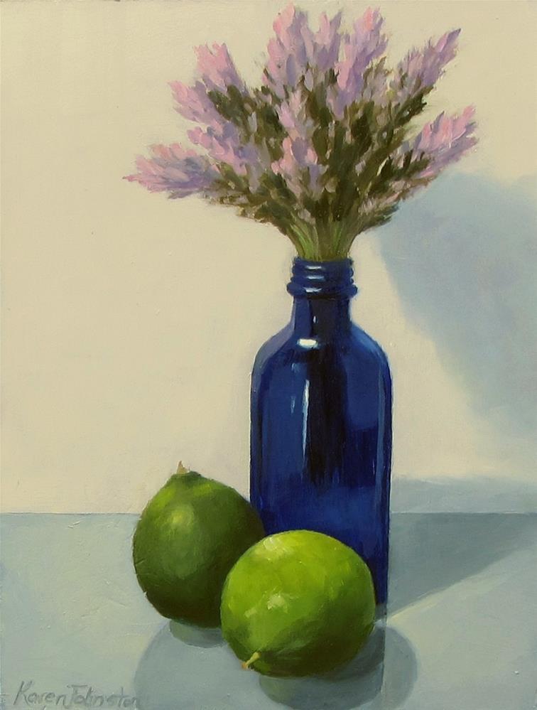 """Lavender and Limes"" original fine art by Karen Johnston"