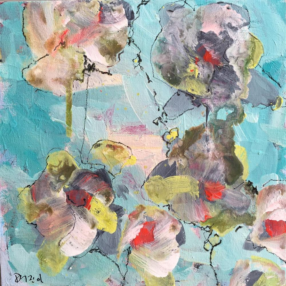 """""""Abstract Flowers"""" original fine art by Jenny Doh"""