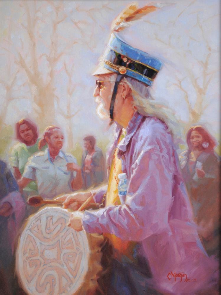 """A Different Drummer"" original fine art by Cecile W. Morgan"