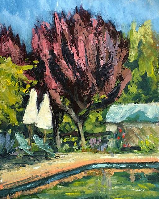 """Rusty Pool"" original fine art by J. Farnsworth"