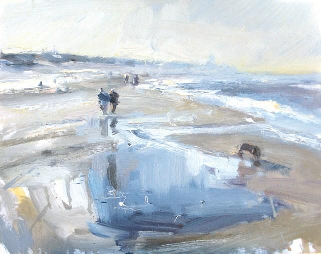 """Seascape winter # 16 energy"" original fine art by Roos Schuring"