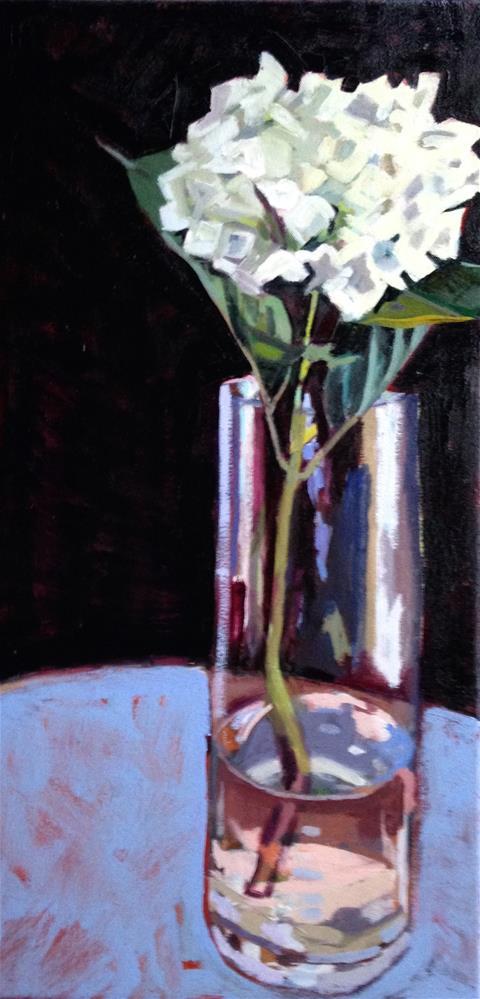 """""""Lady in White"""" original fine art by Pamela Hoffmeister"""