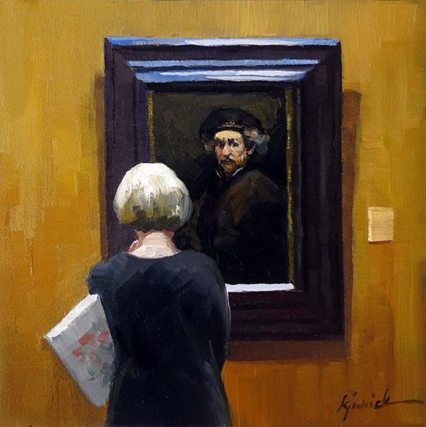 """Have A Look"" original fine art by Karin Jurick"