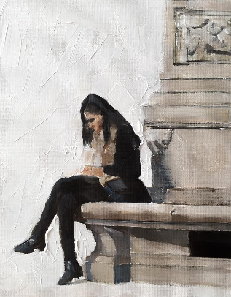 """Waiting"" original fine art by James Coates"