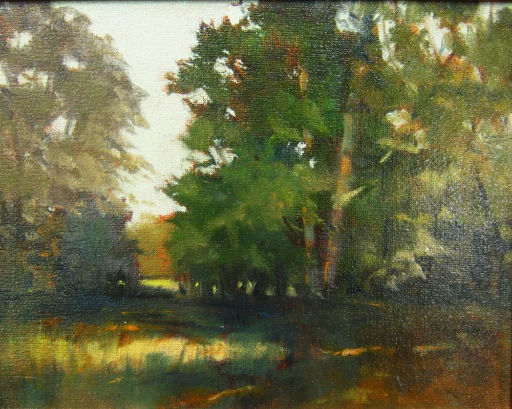 """""""The Pasture Trees"""" original fine art by Connie Snipes"""