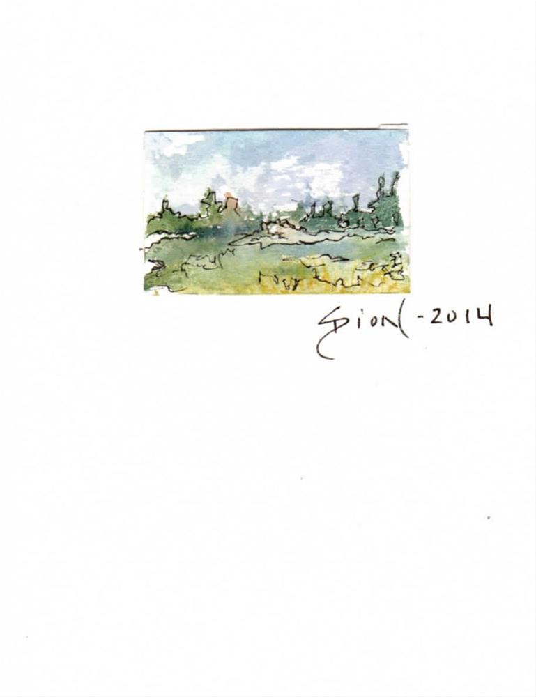 """Miniature Landscape #12"" original fine art by Sue Dion"