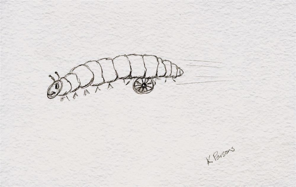 """""""Rolling Roly Poly"""" original fine art by Kali Parsons"""