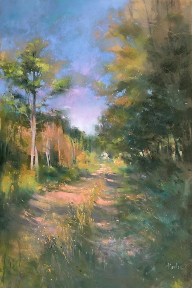 """""""Private Road"""" original fine art by Barbara Benedetti Newton"""