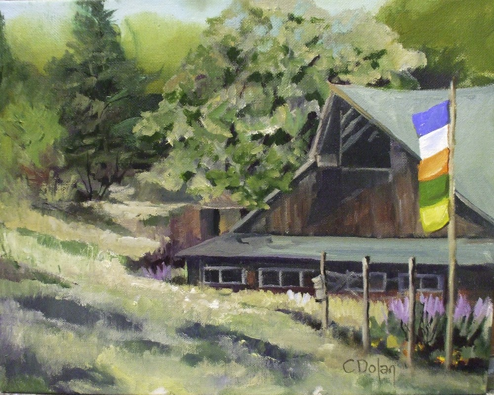 """Hodgdon's Barn"" original fine art by Cheryl Williams Dolan"